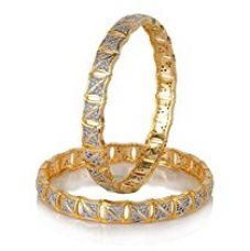 Buy YouBella American Diamond Gold Plated Jewellery Bangles For Women (2.4) from Amazon