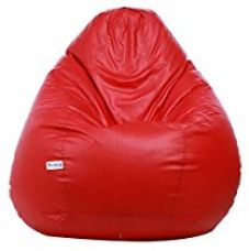 Buy Sattva Excel Classic XL Bean Bag Cover (Red) from Amazon