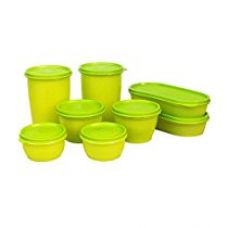 Buy Princeware Modular Plastic Container Set, 8-Pieces, Green from Amazon