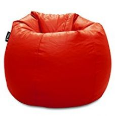 Buy Story@Home XL Leatherite Single Seating Tear Drop Bean Bag Chair Cover Without Filler, Red from Amazon
