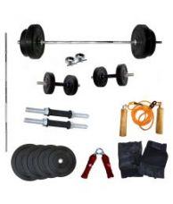 Wolphy 25kg Home Gym Set with 5 Feet Rod for Rs. 2,582