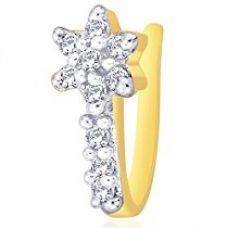 Peora Gold Plated Floral Nose Pin For Women for Rs. 350