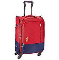 Buy Skybags Romeo Polyester 58 cms Red Softsided Suitcase (STROMW58RED) from Amazon