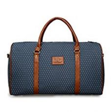 Buy The Clownfish Tapestry Faux Leather 1200 Cms Vintage Light Blue Soft Travel Duffle bag from Amazon