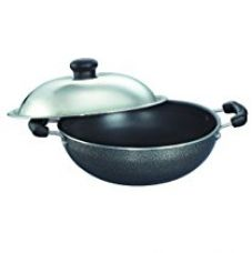 Buy Prestige Omega Select Plus Non-Stick Round Base Kadai with Lid, 20cm from Amazon