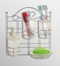 Buy Upasana White Polypropylene Accessory Set - Set of 5 for Rs. 819