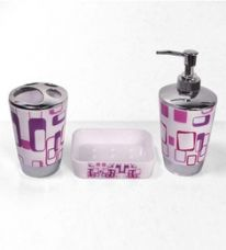 Cortina Cubical Multicolor Plastic 3-piece Bathroom Set (Model No : BA-015) for Rs. 699