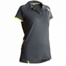 Buy WOMEN'S 300 SHORT-SLEEVED CYCLING JERSEY GREY/YELLOW for Rs. 399