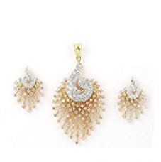 Buy M Creation Gold Cz Peacock Pendant Set Without Chain for Women from Amazon
