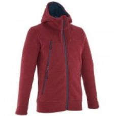 SH500 Men's Warm Snow Hiking Sweater-Burgundy for Rs. 1,999