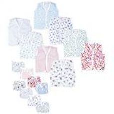 First Kids Step New Born Baby gift pack Jhabla with Diaper (Multicolor, Pack of 16)(Size-L-12inchs,B-10inchs) for Rs. 430