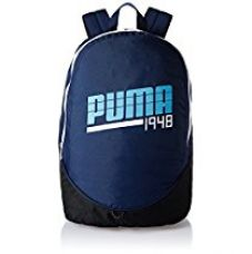 Buy Puma 24.5 Ltrs Blue Print, Ethereal Blue and White Casual Backpack (7296704) from Amazon