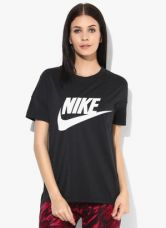 Nike As Nsw Signal Logo Black Round Neck T Shirt for Rs. 1232