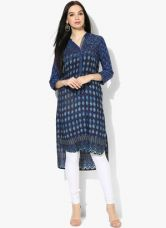 Buy Biba Navy Blue Printed Kurti from Jabong