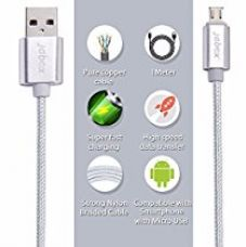 Jabox Premium Fast Charging / USB / Data Cable (Support all Android Smart Phone, Color - Silver) for Rs. 299