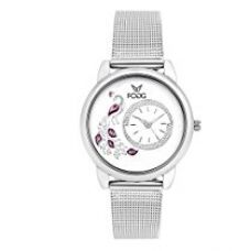 Buy Fogg Analog White Dial Women's Watch 4031-WH from Amazon