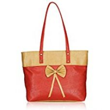 Fantosy Women handbag (FNB-648) (Red and Cream) for Rs. 489