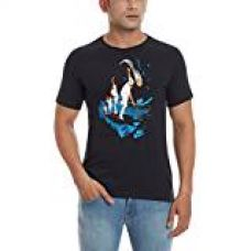 Buy Nike Men's Round Neck T-Shirt (91207757217_729286-010_Small_Black and White) from Amazon