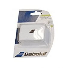 Buy Babolat 45S1378-101 Double Line Head Band (White) from Amazon