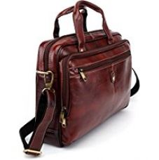 Buy WildHorn 100 % Genuine Leather Brown Laptop Messenger Bag from Amazon