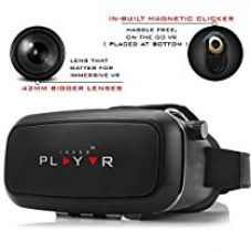 IRUSU PLAY VR headset - UPGRADED 42MM Fully Adjustable virtual reality lenses with Magnetic Clicker - The best VR headset with HD Resin lenses . Virtual reality glasses calibrated with leading mobile brands like Apple iphone 6 and plus, Samsung, Xiaomi,Lenovo,Oneplus,Moto, LG, nexus,Google Pixel,LeEco le2 and other mobiles with gyroscope.Experience 360 videos, 3D and VR games like never before for Rs. 1,699