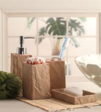 Shresmo Beige Polyresin Cube 4-piece Bathroom Accessory Set for Rs. 1,829