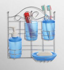 Flat 15% off on Upasana Blue Polypropylene Accessory Set - Set of 5