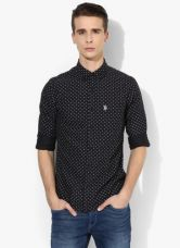 Buy U.S. Polo Assn. Black Printed Regular Fit Casual Shirt for Rs. 1499