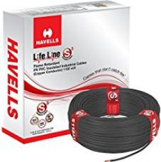 Havells Lifeline Cable WHFFDNKA11X0 1 sq mm Wire (Black) for Rs. 850