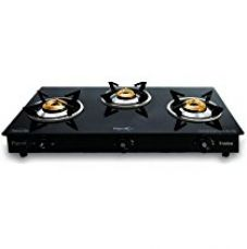 Pigeon Troika Glass-ceramic 3 Burner Gas Stove, Black for Rs. 3,710
