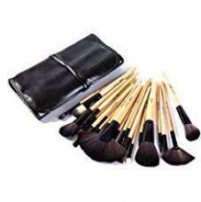 Buy Puna Store Makeup Brush Set, 24 Pieces with Black PU Leather Case from Amazon