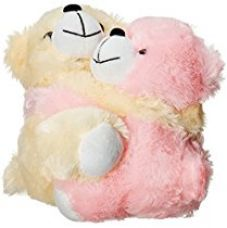 Buy Dimpy Stuff Light Pink and Cream Bear Couple Soft Toy, Pink (7.9-inch) from Amazon