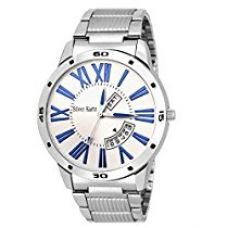 Silver Kartz Chronograph White Dial Mens And Boys Watch-Wt-056 for Rs. 495