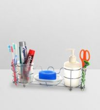 Buy Upasana White Polypropylene Accessory Set - Set of 4 for Rs. 669