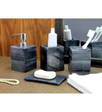 Flat 21% off on Kleo Black Stone Accessories Set - Set of 4