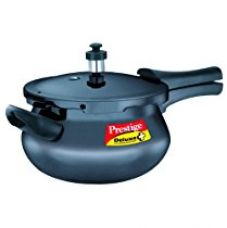 Prestige Deluxe Plus Mini Induction Base Hard Anodized Pressure Handis, 3.3 Litres, Black for Rs. 1,756