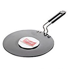 Buy Prestige Hard Anodised Cookware Induction Base Paratha Tawa, 265mm, Black from Amazon