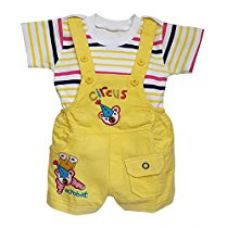 Littly Baby Dungaree Set (Yellow) for Rs. 554