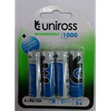 Buy UNIROSS 1.2V 1000 mAh NI-MH Rechargeable Batteries-set of 4 from Amazon