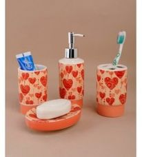 Buy Go Hooked Brass Bathroom Set - Set of 4 from PepperFry