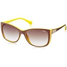 Buy IDEE Oval Sunglasses (IDS1842C5SG|100|Maroon and Yellow ) from Amazon