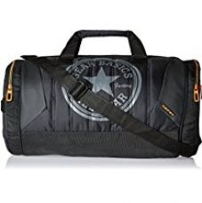 Buy Gear Polyester 47 cms Black and Orange Travel Duffel (METDFPRO20106) from Amazon