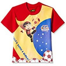 Buy Mighty Raju Boys' T-Shirt from Amazon