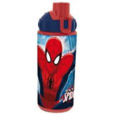 Marvel Spiderman Polypropylene Pop Up Straw Bottle, 380ml, Red-Blue for Rs. 298