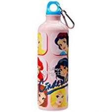 Buy Disney Cinderella Aluminium Sipper Bottle, 750ml, Pink/Yellow from Amazon