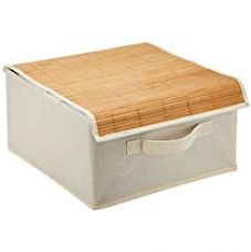 Buy Miamour Bamboo Storage Organizer, White from Amazon