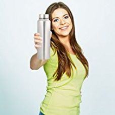 Zafos Stainless Steel Water Bottle Sipper,1 Litre, 1-Piece, Silver for Rs. 399