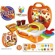 Toys Bhoomi Kids Bring Along Pizza Oven Suitcase Set - 22 Pieces for Rs. 799