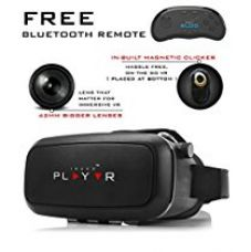 IRUSU PLAY VR Headset - with Remote - UPGRADED 42MM Fully Adjustable virtual reality lenses with FREE Bluetooth remote and Magnetic Clicker - VR glasses with HD Resin lenses .Virtual Reality glasses Works with leading mobile brands like Apple iphone 6 and plus, Samsung, Xiaomi,Lenovo,Oneplus,Moto, LG, nexus,Google Pixel,LeEco le2 and other mobiles with gyroscope.Experience 360 videos, 3D and VR games like never before for Rs. 1,899