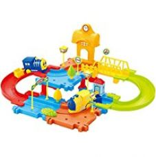 Buy Saffire Block Train Set with Upper and Lower Level and Bridge from Amazon